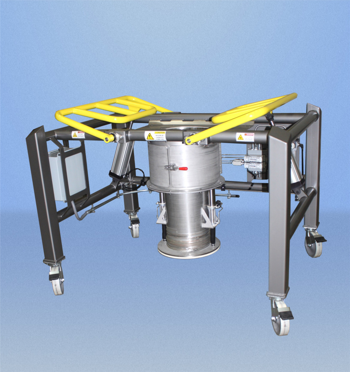 Material Transfer: Caster Portable Low Headroom Bulk Bag