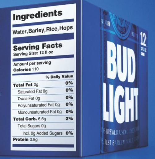 how many carbs are in a bud light