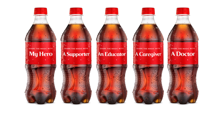 Christmas Limited Edition Coke Bottles 2021 Coca Cola Celebrates Everyday Heroes With Custom Labels Packaging World