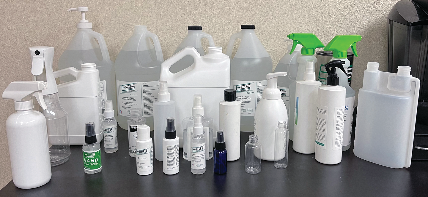 E66 now is able to process a variety of sanitizer chemistries in different batch sizes and packaging form factors.