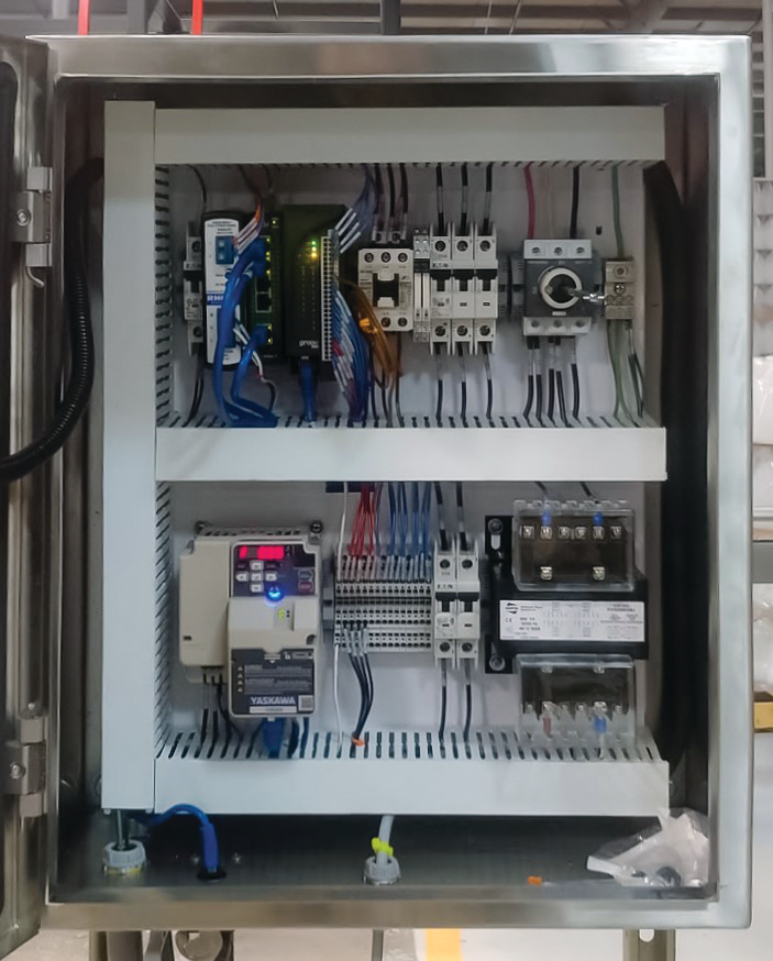 NACI manufactured several of these VFD control panels for local conveyor control using Opto 22's groov RIO.